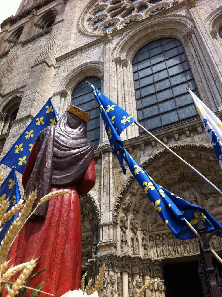 Arrivée à la cathédrale de Chartres